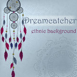 Dreamcatcher on ethnic background Stock Image