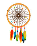 Dreamcatcher with feathers and beads Stock Image