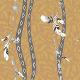Dreamcatcher feathers vector background pattern Stock Photos