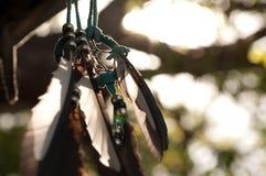 Dreamcatcher против запачканного Flared листва Стоковые Фотографии RF