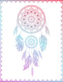 Dreamcatcher in gradient, vector illustration Royalty Free Stock Images