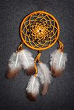 Dreamcatcher on the gray background Stock Photo
