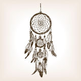 Dreamcatcher hand drawn sketch style vector Stock Images