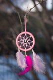 Dreamcatcher handmade bawełniane przędze używać naturalnego barwionego piórko Obraz Royalty Free