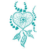 Dreamcatcher heart Royalty Free Stock Photos