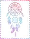 Dreamcatcher i lutningen, vektorillustration Royaltyfria Bilder