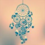 Dreamcatcher illustration. On cute light brown background Stock Photos