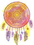 Dreamcatcher indiano americano da talismã Vetor Fotografia de Stock Royalty Free