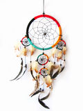 Dreamcatcher isolated in white royalty free stock photography