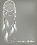 Dreamcatcher with lace Stock Photo