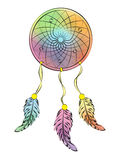 Dreamcatcher. Multi-coloured on a white background Royalty Free Stock Image