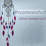 Dreamcatcher na pochodzeniu etnicznym Obraz Stock