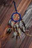 Dreamcatcher. Native American Dreamcatcher on wood background Royalty Free Stock Photo