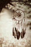 Dreamcatcher. And nature retro background Royalty Free Stock Image