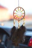 Dreamcatcher no carro Imagens de Stock Royalty Free