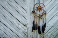 Dreamcatcher. On old wood texture Royalty Free Stock Image
