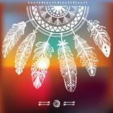 Dreamcatcher with ornament Royalty Free Stock Photo