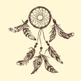 Dreamcatcher Style de Boho illustration stock