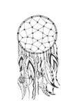 Dreamcatcher tradicional do símbolo dos indianos americanos ilustração do vetor