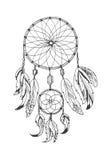 Dreamcatcher tradicional do símbolo dos indianos americanos ilustração royalty free