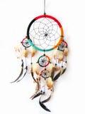 Dreamcatcher trennte im Weiß Lizenzfreie Stockfotografie