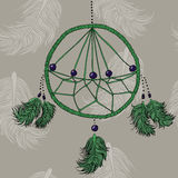 Dreamcatcher verde royalty illustrazione gratis