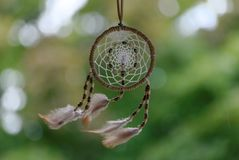 Dreamcatcher w wiatrze Outdoors zdjęcia stock