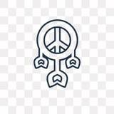 Dreamcatcher wektorowa ikona odizolowywająca na przejrzystym tle, Lin ilustracji