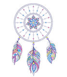 Dreamcatcher on white background Stock Images