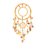 DreamCatcher on White. Indian dream catcher set against a pure white background Royalty Free Stock Image