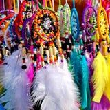 Dreamcatchers coloridos fotografia de stock royalty free