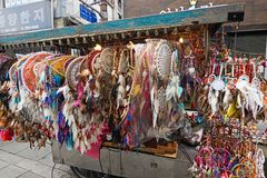 Dreamcatchers on sale at the Insadong street, Seoul, South Korea Stock Photo