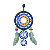 Dreamcathcer Carft Decorative Item, Native American Indian Culture Symbol, Ethnic Object From North America Isolated Royalty Free Stock Images