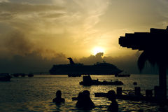 Dreamed Holidays in a caribbean resort Royalty Free Stock Images