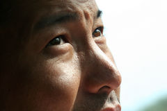 The Dreamer. Close up portrait of asian eyes Stock Photography