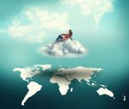 Dreamer above the world