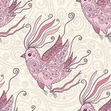 Dreamer bird vector seamless repeat pattern Stock Photography