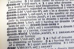 Dreamer imagination vision dream dictionary. Dreamer imagination vision dream definition dictionary dreaming printed book stock photos