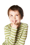 Dreamful kid Stock Image