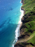 Dreaming. The Na Pali coast by helicopter, aerial photo royalty free stock image