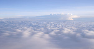 Dreaming. Clouds taken from a airplane all in the same color Royalty Free Stock Photo