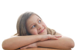 Dreaming. The cute little girl dreaming about something Royalty Free Stock Photo