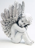 Dreaming Angel. On white background royalty free stock photos