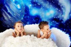 Dreaming angels Royalty Free Stock Photo