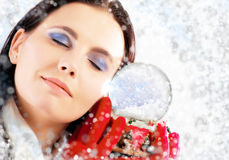 Dreaming At Christmas Day Stock Images