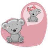 Dreaming Bear. Greeting card Cute cartoon Dreaming Teddy Bear royalty free illustration