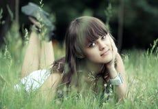 Dreaming beautiful girl Stock Photo