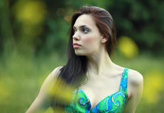 Dreaming beautiful girl Royalty Free Stock Photos