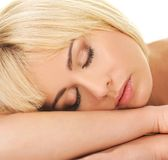 Dreaming beautiful woman Stock Images