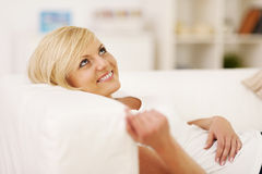 Dreaming beautiful woman Royalty Free Stock Images